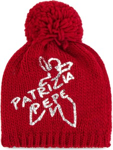Czerwona czapka Patrizia Pepe