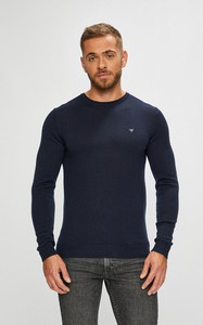Granatowy sweter Guess Jeans