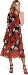 Sukienka MOE midi w stylu casual