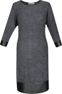 Sukienka Fokus oversize ze skóry midi