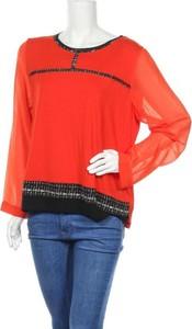 Czerwona bluzka Sportalm w stylu casual z długim rękawem z okrągłym dekoltem