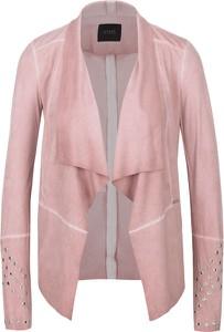 Różowa kurtka Guess Jeans w stylu boho krótka