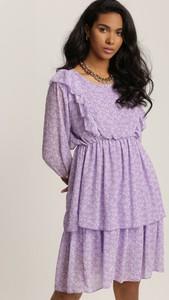 Sukienka Renee z okrągłym dekoltem z długim rękawem