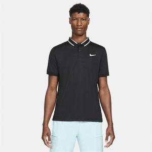 Czarna koszulka polo Nike z krótkim rękawem