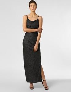 Czarna sukienka Marie Lund prosta na ramiączkach maxi