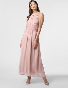 Różowa sukienka Vila rozkloszowana bez rękawów