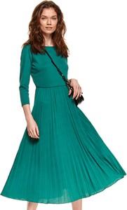 Sukienka Top Secret maxi z długim rękawem z dekoltem w kształcie litery v