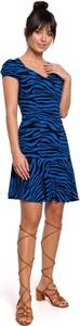 Granatowa sukienka MOE mini