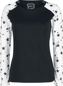 Czarna bluzka Emp z okrągłym dekoltem z bawełny
