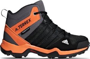 Czarne buty trekkingowe Adidas w sportowym stylu