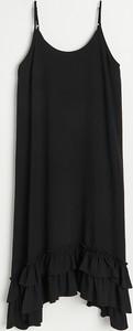 Czarna sukienka Reserved z okrągłym dekoltem na ramiączkach mini
