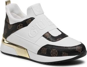 Buty sportowe Guess na platformie sznurowane