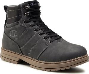 Buty zimowe Champion w stylu casual z nubuku sznurowane