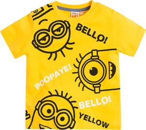 Żółta koszulka dziecięca Cool Club z bawełny
