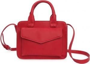Czerwona torebka Pepe Jeans do ręki średnia