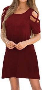 Czerwona sukienka Sandbella z dresówki mini