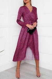 Sukienka IVET w stylu casual kopertowa