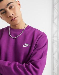 Fioletowa bluza Nike z dresówki w sportowym stylu
