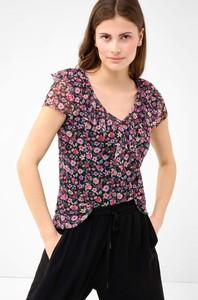 Bluzka ORSAY z dekoltem w kształcie litery v z krótkim rękawem