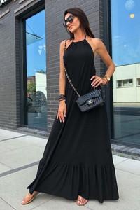Czarna sukienka Ivet.pl maxi bez rękawów