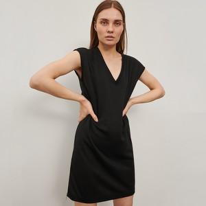 Czarna sukienka Reserved mini z krótkim rękawem