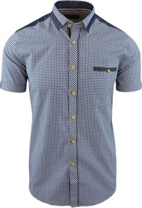 Niebieska koszula merits.pl z krótkim rękawem