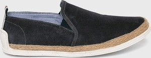 Granatowe buty letnie męskie Medicine ze skóry