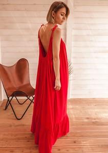 Sukienka Latika maxi na ramiączkach
