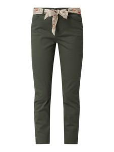 Zielone jeansy Christian Berg Women z bawełny w street stylu
