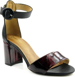 Czarne sandały Maciejka ze skóry