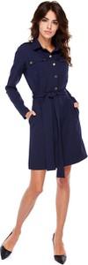 Granatowa sukienka Ohh La La z długim rękawem mini
