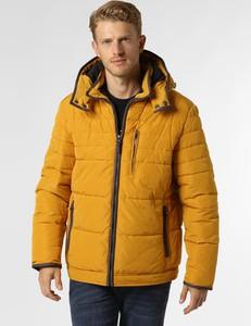 Żółta kurtka Nils Sundström w stylu casual z plaru