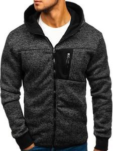 Czarna bluza Denley w street stylu z bawełny