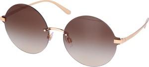 Złote okulary damskie Dolce & Gabbana