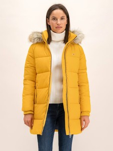 Żółty płaszcz Tommy Jeans w stylu casual