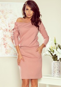 Różowa sukienka NUMOCO z dresówki mini