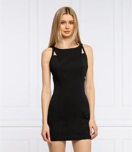 Czarna sukienka Calvin Klein z okrągłym dekoltem bez rękawów