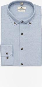 Niebieska koszula Recman z kołnierzykiem button down