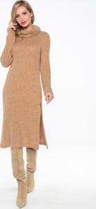 Sukienka Lavard z długim rękawem z golfem w stylu casual