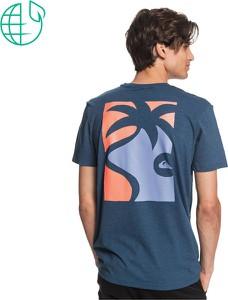 Niebieski t-shirt Maravilla Boutique z krótkim rękawem