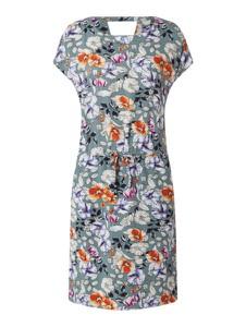 Miętowa sukienka Only mini z dekoltem w kształcie litery v