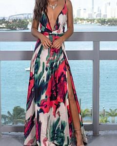 Sukienka Kendallme w stylu boho z dekoltem w kształcie litery v na ramiączkach