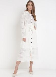 Sukienka born2be w stylu casual z długim rękawem z dekoltem w kształcie litery v