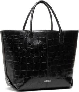 Czarna torebka Lasocki duża ze skóry