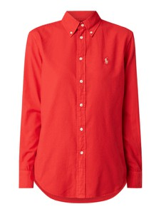 Czerwona koszula POLO RALPH LAUREN z długim rękawem z bawełny