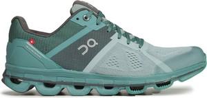 Turkusowe buty sportowe On Running sznurowane