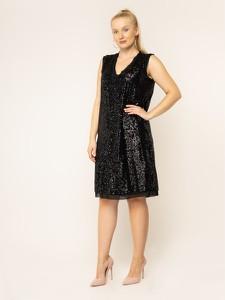 Czarna sukienka Persona by Marina Rinaldi z dekoltem w kształcie litery v mini