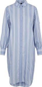 Niebieska sukienka Y.A.S z kołnierzykiem