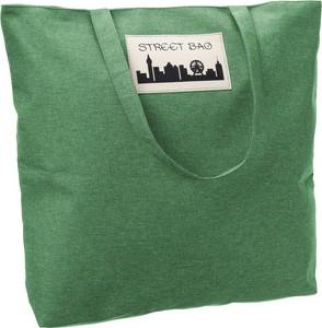 Zielona torebka producent niezdefiniowany w wakacyjnym stylu ze skóry ekologicznej