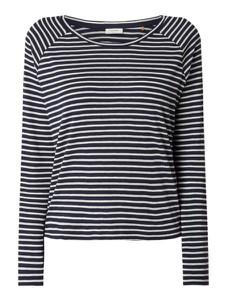 Granatowa bluzka Marc O'Polo DENIM z bawełny z długim rękawem